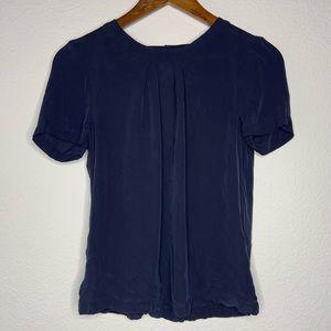 3/$30 j.crew black label silk navy blouse